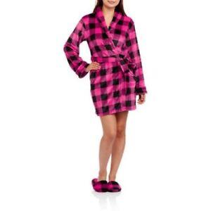 Body Candy Junior Girls Luxe Plush Sleepwear Robe   Slippers Set ... 5d061c27f