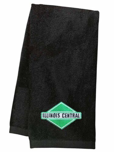 Illinois Central Green Diamond Logo Embroidered Hand Towel 06
