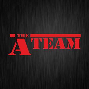 The-A-Team-A-Team-ATeam-Van-Fahrzeug-PKW-Rot-Auto-Vinyl-Decal-Sticker-Aufkleber
