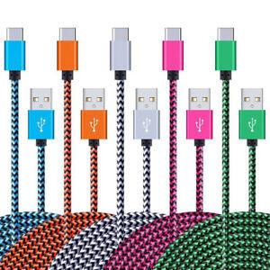 1m/2m/3m Premium Nylon Ladekabel Datenkabel USB-C Typ-C Kabel Samsung Huawei