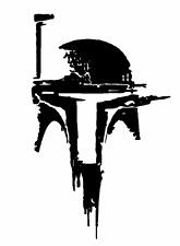Vinyl Decal Sticker Truck Car Laptop Window - Star Wars Boba Fett Helmet v2