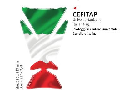 Cordiale Paraserbatoio Adesivo Resinato Italia Universale Per Tutte Le Moto Gilera Funzionalità Eccezionali