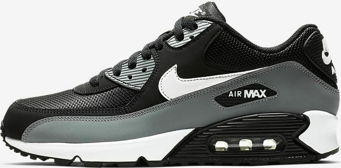 Men's Nike Air Max 90 Essential Black White-Cool Grey US Size 13