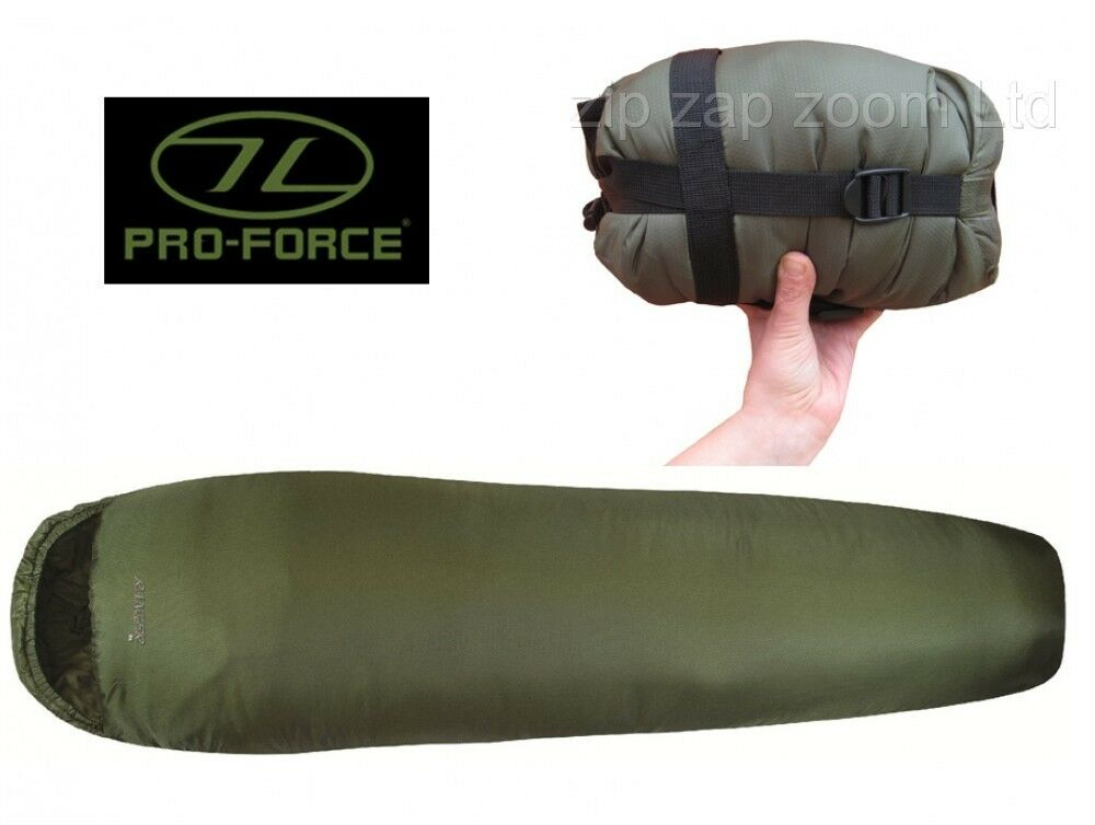 Army Combat Military Sleeping Bag Lightweight Travel Compact Green 1 2 3 Season