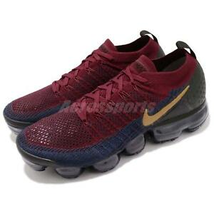 5d834151fdc2a Nike Air Vapormax Flyknit 2 II Olympic Red Wheat Navy Black Men ...