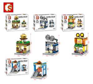 Sembo-Blocksteine-Store-Schokolade-Brille-Kinder-Figur-Spielzeug-Modell-Geschenk