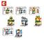 Sembo-Blocksteine-Store-Schokolade-Brille-Kinder-Figur-Spielzeug-Modell-Geschenk Indexbild 1