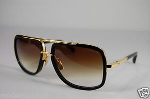 47c815e19f4 DITA MACH ONE TITANIUM BLACK   GOLD DRX 2030-B-59 18K SUNGLASSES.