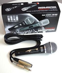 pro dj studio karaoke handheld wired vocal dynamic microphone cable mu m757 ebay. Black Bedroom Furniture Sets. Home Design Ideas