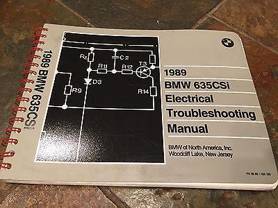 1989 bmw e24 635csi 635i electrical troubleshooting wiring diagram manual
