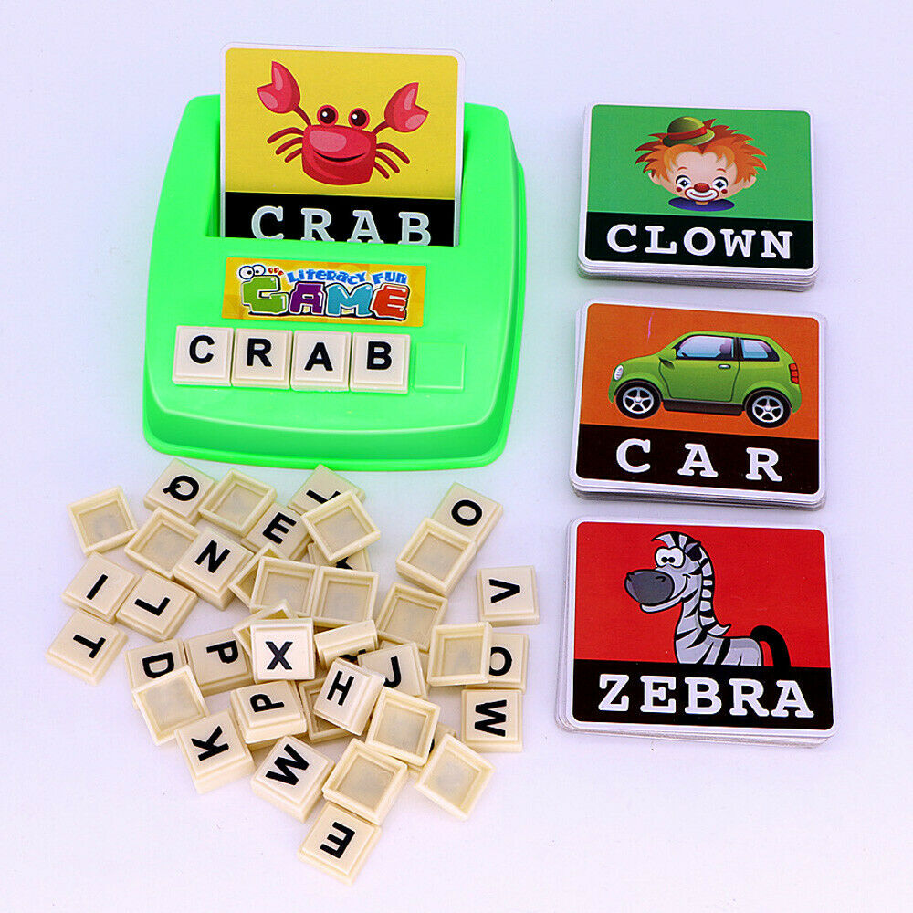 Kids English Spelling Game Alphabet Letter Learning Early Educational Plastic 2