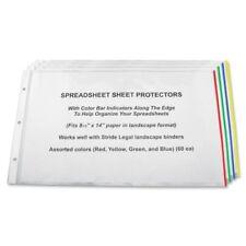 Stride Semi Clear Sheet Protectors 20 Sheet Capacity Legal 850 X 14 3 X