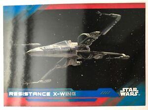 2017-Topps-Star-Wars-The-Last-Jedi-67-Resistance-X-wing-BLUE-NrMint-Mint