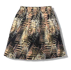 New-85-value-ALFANI-4X-black-geo-lined-chiffon-pleated-A-line-midi-skirt
