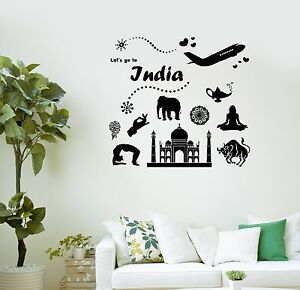 Wall Decal India Taj Mahal Journey Travel Agency Vinyl Stickers - Custom vinyl decals india
