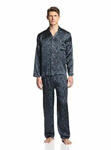 Image is loading INTIMO-LUXE-MEN-039-S-PAISLEY-SILK-PAJAMA- 3279e5357