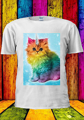 Unicorn Rainbow Cat Kitten Funny T-shirt Vest Tank Top Men Women Unisex 2171