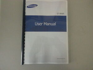 samsung galaxy s4 gt i9505 printed instruction manual user guide rh ebay co uk T-Mobile Samsung S4 Manual Samsung Galaxy S4