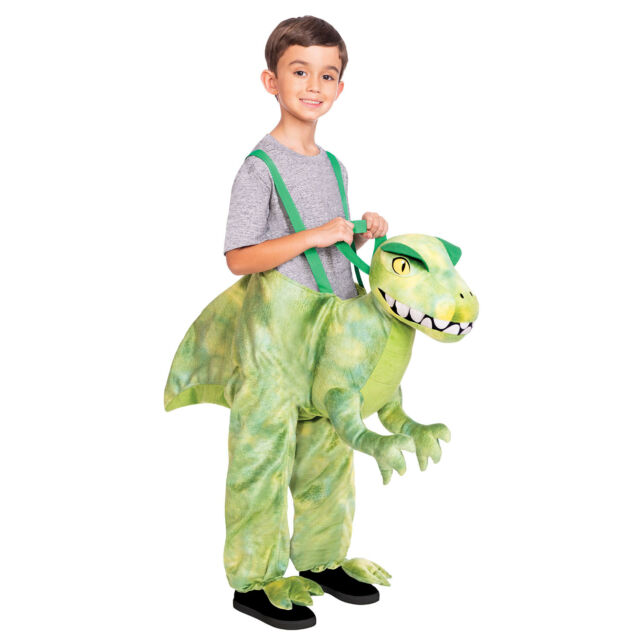 Classic Ride on Dinosaur Age 3-8 Years Green Boys Girls Fancy Dress Outfit