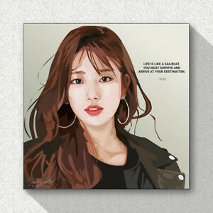 Suzy-SM-K-Pop-Art-Printed-on-Acrylic-Frame-Print-Wall-Poster-Painting-25cm