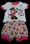 3-6 Monate Disney Baby 2in1 Mädchen Kurzhose Shorts mit T-Shirt GR 62-68 NEU