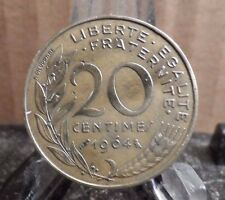CIRCULATED 1964 20 CENTIMES FRENCH COIN (43017)1