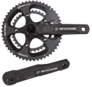 Verve Infocrank Power meter M30 Axle 175mm with 52 36 chainrings BRAND NEW