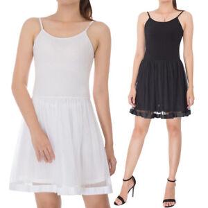 womens lingerie under dress spaghetti strap lady full slip