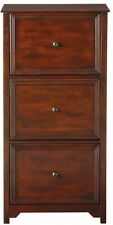 File Cabinet 3 Drawer Storage Vertical Filing Wood Home Office Oxford  Chestnut