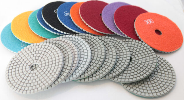 4 Inch Diamond Polishing Pads Wet or Dry Granite Marble Concrete Stone Tile