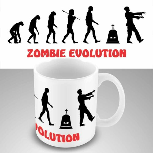 Funny New office coffee mug cup ZOMBIE EVOLUTION WALKING DEAD ZOMBIES