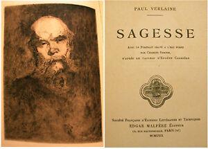 VERLAINE-SAGESSE-ED-MALFERE-1929-UNE-EAU-FORTE
