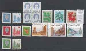 Canada Posten Freimarken aus 1973-1979 postfrisch