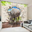 3D Elephant 35 Blockout Photo Curtain Printing Curtains Drapes Fabric Window AU
