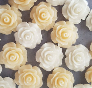 NEW 20mm CRAFTING ROSES TOP QUALITY PACK OF 10 FLOWERS FLORAL CRAFT DECORATION