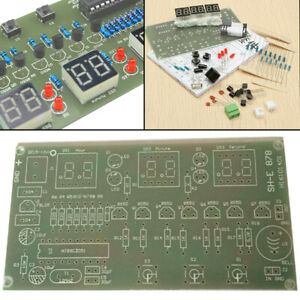 5-12V-Bausatz-Kit-6-Digital-LED-Elektronik-Uhr-AT89C2051-10-cm-x-5-2-cm-DIY