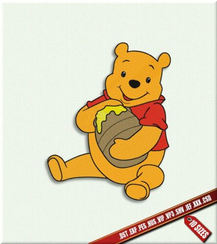 Digital pattern Disney Cartoon Winnie the Pooh Machine Embroidery Design Bear