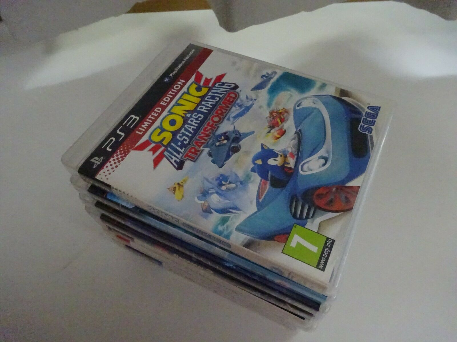 Sonic & All Stars Racing Transformed PS3 Disc is EX, manual inc Freepost