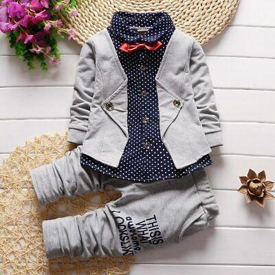 pantalones Traje de moda Trajes de niños Ropa para niños 2pcs conjuntos Abrigo