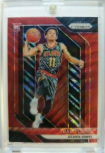 Rare-2018-19-Prizm-Trae-Young-Red-Wave-Prizm-Refractor-Rookie-RC-78