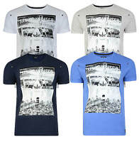 Firetrap Printed T-shirt New Mens City Bridge Crew Neck Graphic Print Cotton Tee