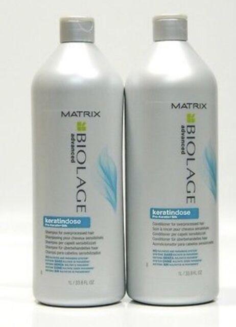 Matrix Biolage Advanced Keratindose Pro-Keratin Silk Shampoo and Conditioner
