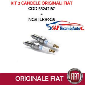 2-CANDELE-ORIGINALI-FIAT-PANDA-500-500L-0-9-TWINAIR-55242187-NGK-ILKR9G8