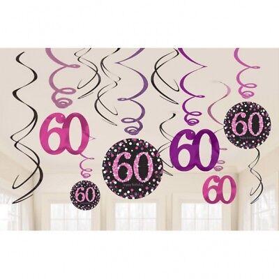 Geburtstag Feier Party Deko Spiralen Girlande Swirls Raum Deko Dekoration 60