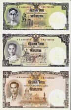 2007 ~ Thailand Siam Comm 1,5,10 Baht King 80 Birthday Uncut Sheet W/ Folder