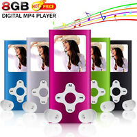 "8GB Slim Digital MP3 MP4 Player 1.8"" LCD Music Media FM Radio Video Games Movie"