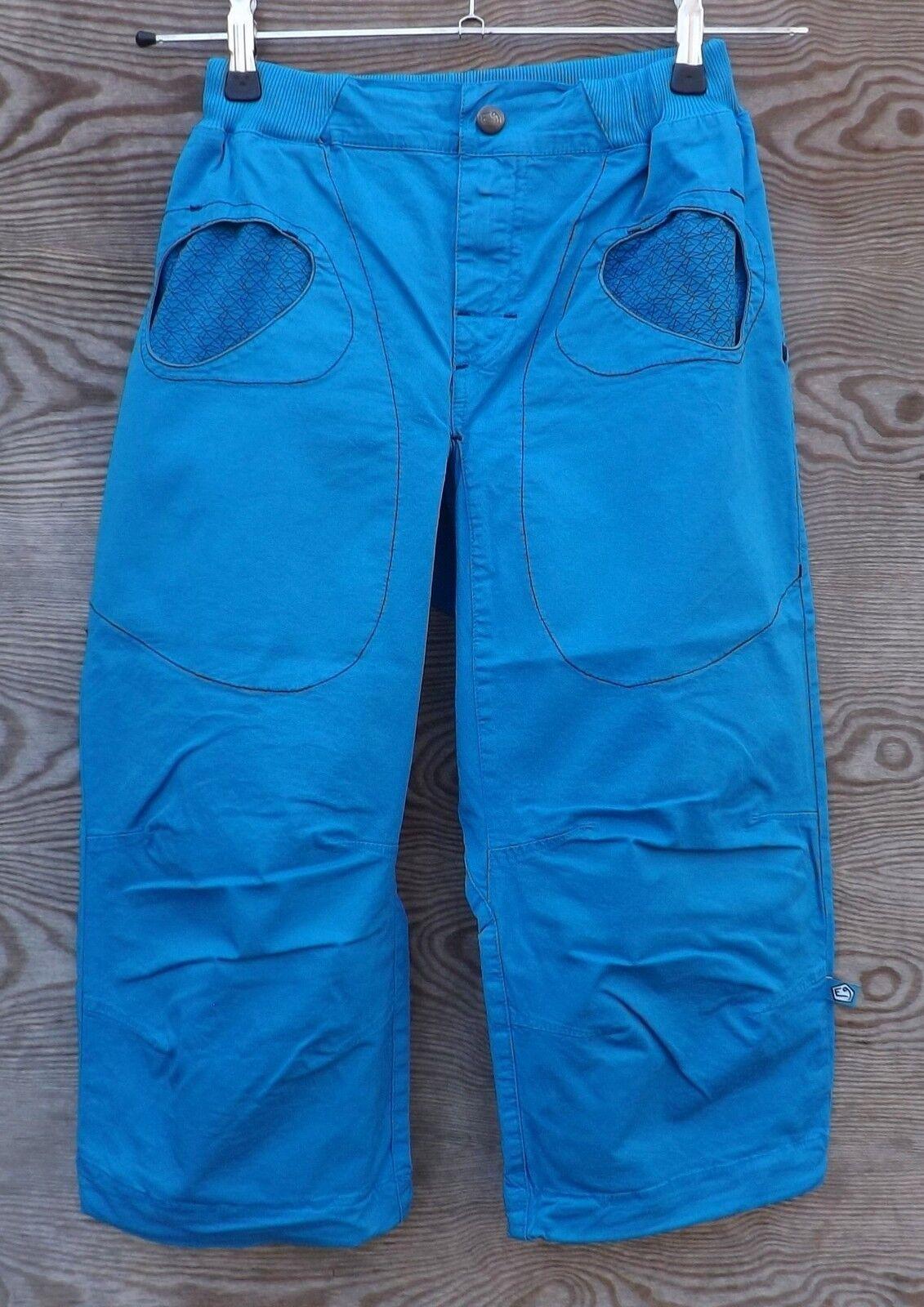 E9 Trousers R3, 3 4 - Long Climbing Pants for Men, Cyan, Size XS