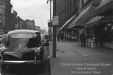 Alte Postkarte - Wisconsin Cheese Mart 3rd Street Milwaukee, Wisc - Reproduktion