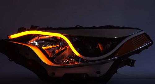 2X60CM Car Flexible Switchback LED Knight Rider Strip Light Headlight Sequential