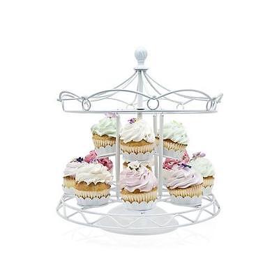 Godinger Carousel Cupcake White New